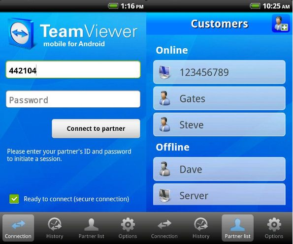TeamViewer Free arriva su Android Market