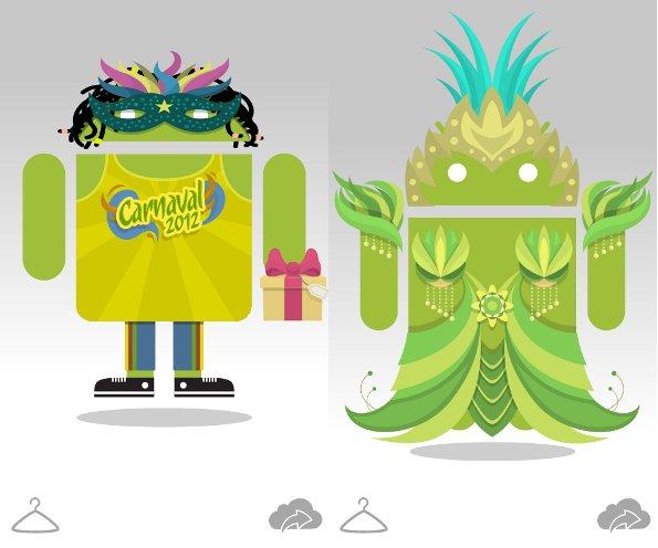 Androidify mise à niveau vers le Carnaval!