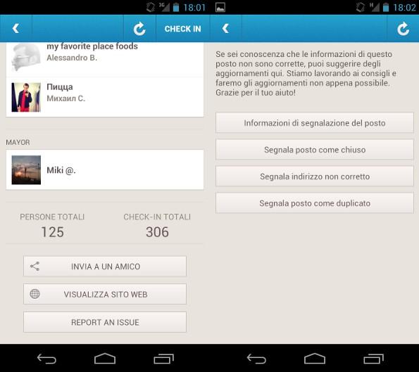 Foursquare si aggiorna e riporta i punti nei check-in