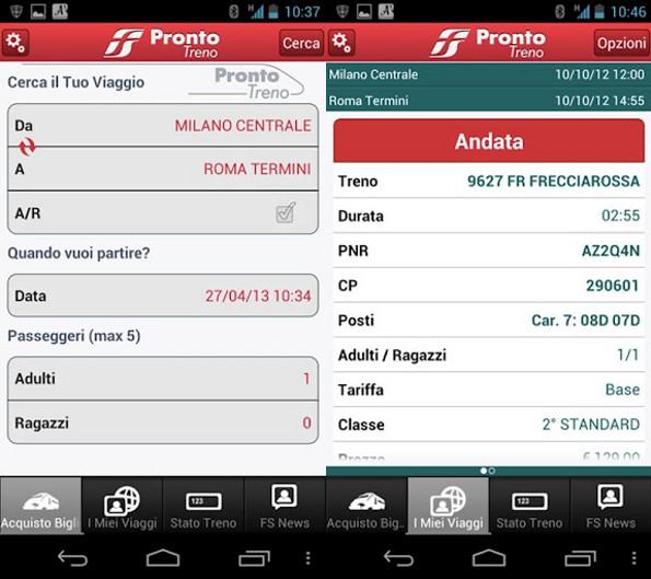 ProntoTreno per Android