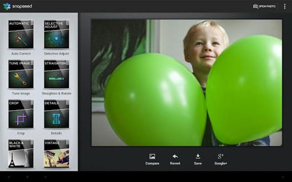 Snapseed finalmente disponibile su Play Store... gratis!