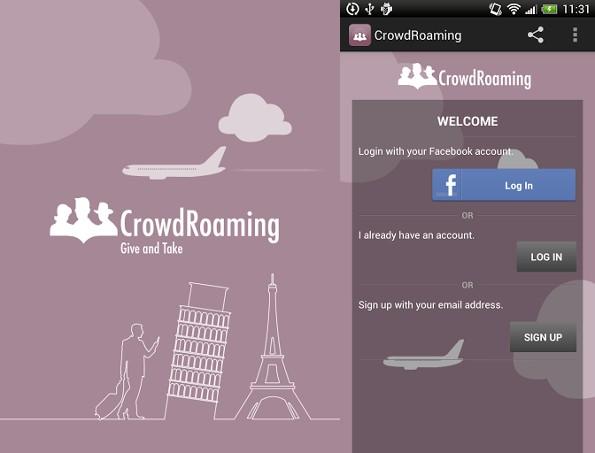 CrowdRoaming per Android