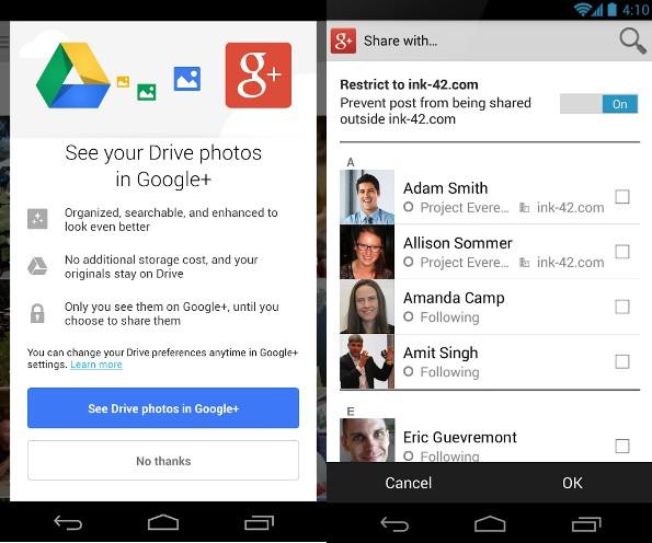 Google aggiorna le applicazioni Android di Google+ e Traduttore